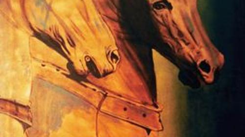 Venedig Pferde Kulisse, venezianisch, Venedig, Pferde, Kulisse, Italien, italienisch, Dekoration, Event, Messe