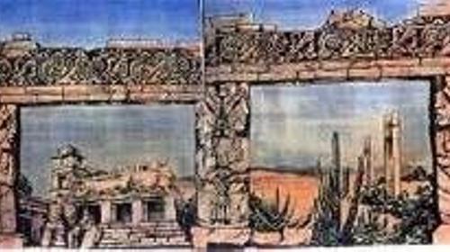 Inka Tempel Kulisse, Kulisse, Tempel, Inka, Inkas, Maya, Mayas, Azteken, Dschungel, Südamerika, Tempelanlage