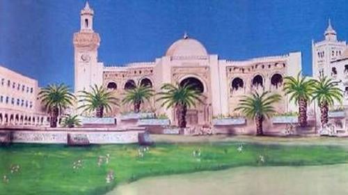 Tunis Kulisse, Tunis, Kulisse, Tempel, Indien, indisch, Orientalisch, Orient, Tempelkulisse, Dekoration, Tunesien