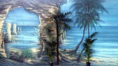 Portugal Algarven Kulisse, Algarven, Portugal, Kulisse, Dekoration, Küste, Strand, Meer, Palmen, Karibik, Event, Messe