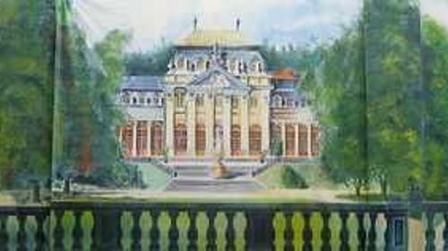 Schloss Park Kulisse, Kulisse, Park, Schloss, Schlosspark, Schlossgarten, Schlosshof, Dekoration, Schlosskulisse, Event