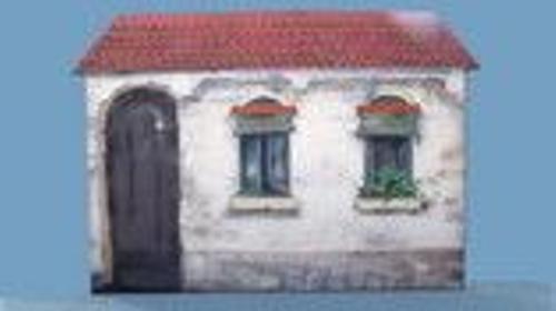 Bodega Hausfassade, Bodega, Fassade, Hausfassade, Haus, Hauswand, Kulisse, mediterran, Spanien, Dekoration, Event