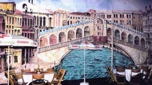 Rialtobrücken Kulisse, Kulisse, Brücke, Venedig, Dekoration, Italien, Adria, Rialto, italienisch, Event, Messe