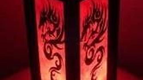 Dragon Tischleuchte, Tisch, Tischlampe, Lampe, Leuchte, Licht, Beleuchtung, Drachen, Motiv, Asia, Asiatisch, Asien