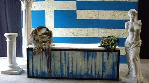 Griechische Markt- Buffetstände, Buffet, Markt, Marktstände, Marktstand, Buffetstand, griechisch, Griechenland, Stand