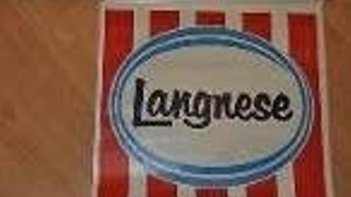 Langnese-Eis - Artikel, Langnese, Eis, Eiscreme, Mülleimer, Vase, Fähnchen, Fahne, Werbeartikel, Eissalon, Eisstand