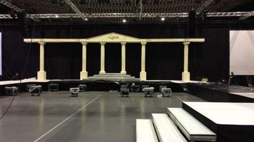 Tempel Bühnenbild, Bühne, Bühnenbild, Tempel, Tempelanlage, Griechenland, Griechisch, Antik, Altgriechisch