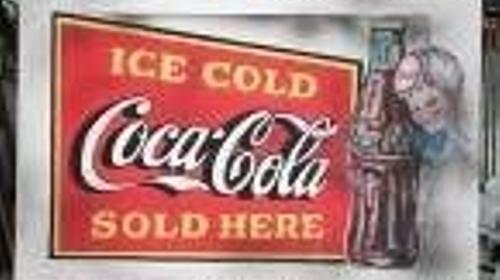 Coca Cola Werbedisplay, Werbedisplay, Werbeschild, Schild, Werbung, Coca Cola, Coke, Display, 50er Jahre, 60er Jahre