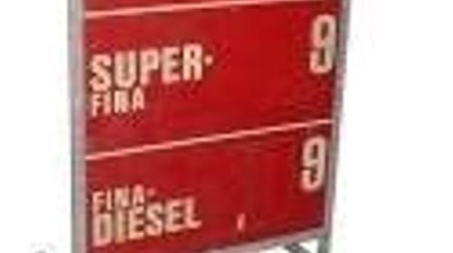 Tankpreis- Display 70er Jahre, Tankpreis, Tankstell, Preise, Spritpreise, Sprit, benzin, Tanke, 70er Jahre, Dekoration