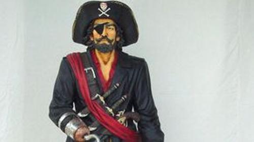 Pirat Figur, Pirat, Piratenkapitän, Kapitän, Käpt'n, Figur, Dekoration, Freibeuter, Meer, Schiff, Seeräuber