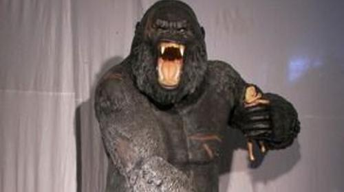 King Kong, Gorilla, Affenkreatur, Monster, Affe, Urzeitmonster, Dschungel, Figur, Dekoration, Film, Kino, Event, Messe