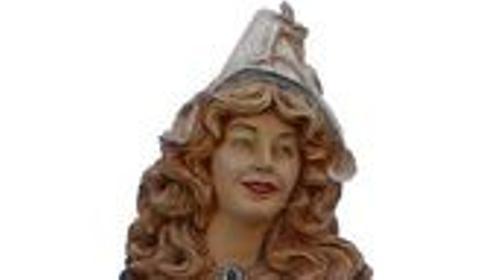 Niederländerin Figur, Niederlande, Holland, Holländerin, Niederländerin, Blumenmädchen, Blumen, Figur, Dekoration
