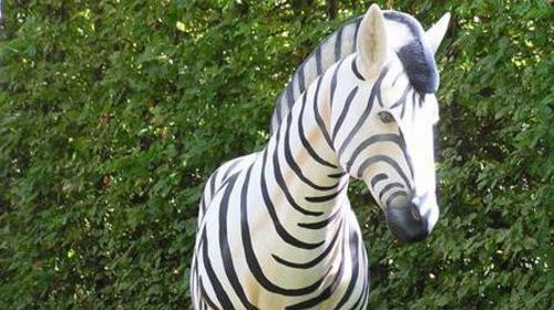 Zebra Figur, Zebra, Savanne, Afrika, afrikanisch, Figur, Steppe, Tier, Dekoration, Zoo, Zirkus, Event, Messe