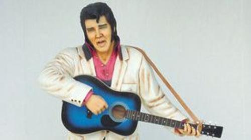 Elvis Figur mit Gitarre, Elvis, Elvis Presley, Figur, Gitarrenspieler, King of Rock, Rock'n'Roll, Dekoration, Musik