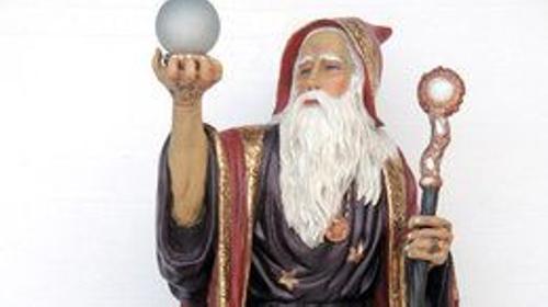 Märchen Zauberer Figur, Zauberer, Figur, Märchen, Zauberer von Oz, Dekoration, Merlin, Sage, Zaubern, Event, Messe
