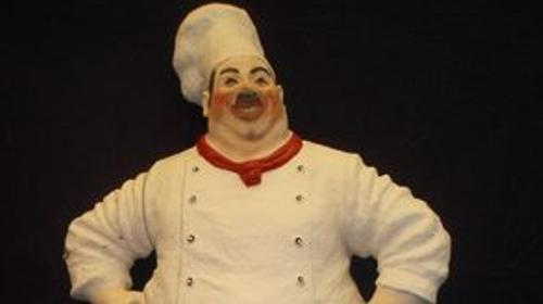 Frankreich Koch Dick, Französisch, Figur, Frankreich, France, Koch, Kochen, Küche, Restaurant, Dünner Koch, Paris