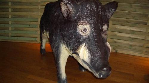 Wildschwein Figur, Wild, Wildschwein, Figur, Keiler, Tier, Waldtier, Schwein, Wald, Wildsau, Dekoration, Event, Messe