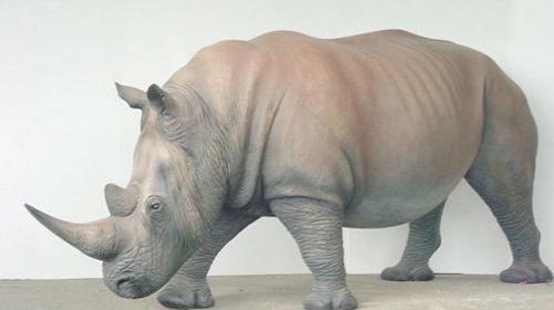 Nashorn Figur, Nashorn, Rhinozeros, Rhino, Figur, Tier, Wildtier, Zoo, Afrika, afrikanisch, Dekoration, Event, Messe
