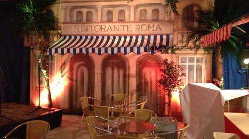 Italien Ristorante Roma, Italien, Kulisse, Rom, Mediterran, Ristorante, Restaurant, Dekoration, Hausfassade, Fassade