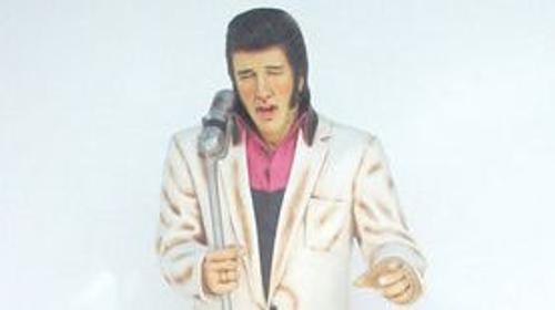 Elvis Figur mit Mikrofon, Elvis, Elvis Presley, Figur, Gitarrenspieler, King of Rock, Rock'n'Roll, Dekoration, Musik
