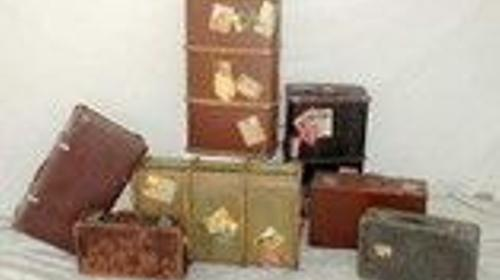 Reise Koffer, Reise, Koffer, Gepäck, reisen, Tasche, 50er Jahre, 60er  Jahre, Dekoration, Urlaub, Event, Messe