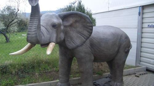 Elefant Figur XL, Elefant, Figur, Stoßzähne, Afrika, Indien, afrikanisch, Dekoration, Asien, Asia, Bulle