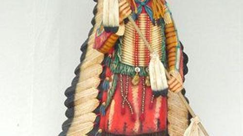 Indianer Häuptling Figur, Indianer, Häuptling, Figur, Western, Wilder Westen, Cowboy, Dekoration, Indianerhäuptling