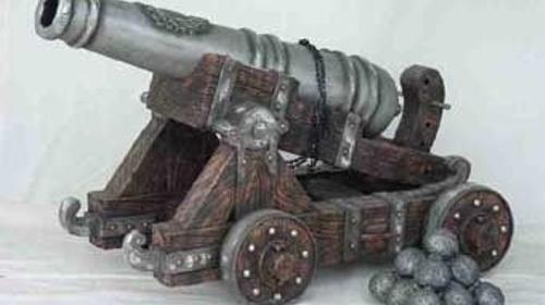 Kanonen Nachbildungen, Kanone, Mittelalter, Burg, Verteidigung, Belagerung, Ritter, Ritterburg, Dekoration, Event