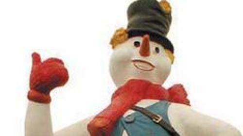 Schneemann Figur, Schnee, Figur, Schneemann, Winter, Winterzeit, Weihnachten, Schneeball, Dekoration, Event, Messe