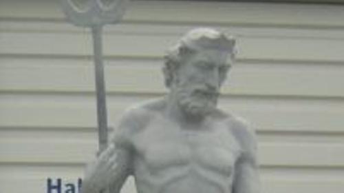 Neptun Figur, Neptun, Figur, Meer, Meeresgott, Gott, Gottheit, griechisch, römisch, Antik, Mythos, Mythologie, Poseidon