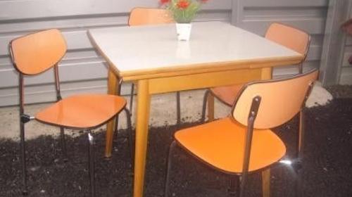50er Jahre Küchen Sitzgarnitur, 50er Jahre, Küche, Sitzgarnitur, Sitz, Möbel, Kochen, Koch, Event, Messe, Veranstaltung