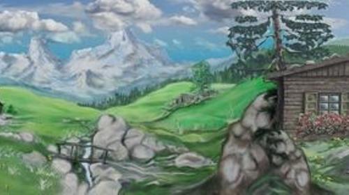 Alpenland Kulisse, Alpenland, Alpen, Alm, Bayern, Kulisse, Bergkulisse, Event, Messe, Veranstaltung, leihen, mieten