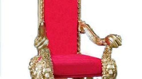 Barock Thron, Thron, Barock, Stuhl, Samtstuhl, Samt, Herrschersessel, Kaiserstuhl, Königssessel, Event, Messe