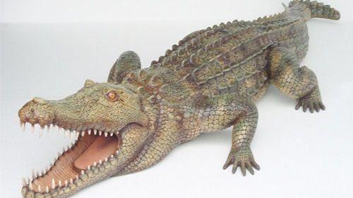 Alligator Figur, Alligator, Figur, Wildtier, Tier, Krokodil, Everglades, Event, Messe, Veranstaltung, leihen, mieten