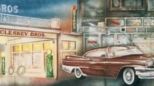 Amerika McCleskey Kulisse, Amerika, Kulisse, McCleskey, amerikanisch, USA, Auto, amerikanisches Auto, Oldtimer, Oldie