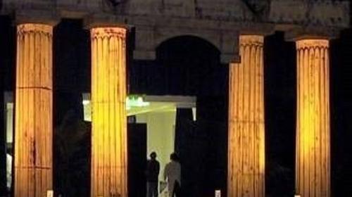Ägyptische Säule mit Architraven Aufsatz, Säule, Säulen, Ägypten, ägyptisch, Architrave, Architraven, Tempel