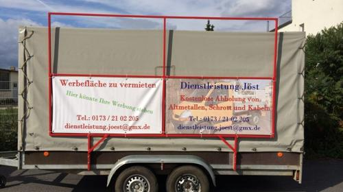 Mobile Werbefläche zu vermieten