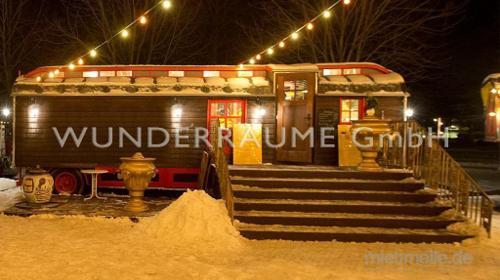 Zirkuswagen als Café & Restaurant; edel, WUNDERRÄUME GmbH vermietet: Dekoration / Kulisse für Event, Messe, Veranstaltung, Incentive, Mitarbeiterfest, Firmenjubiläum