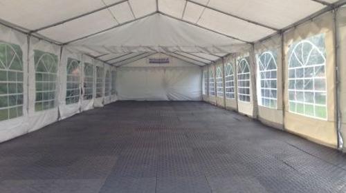 Zeltboden, Kunststoffbodenplatten, Tanzboden