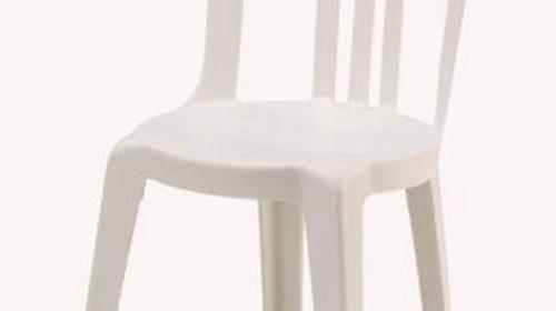 Stapelstuhl Bistro, weiß 100 Stück