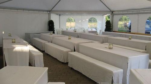 Hussen Set für Festzeltgarnitur / Bierbank