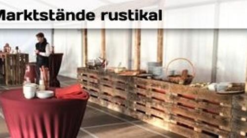 Palettenmarktstand - Theke