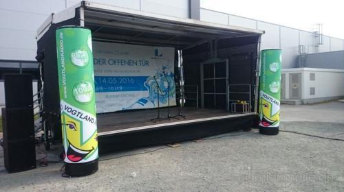 Veranstaltungsbühne / Mobile Trailer Bühne 6x4m