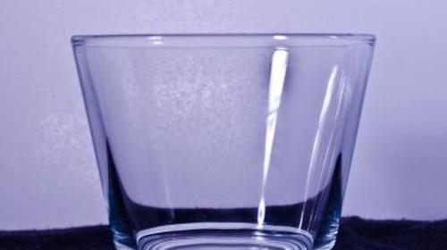 Tischleuchter (Teelicht) 6cm hoch Glas