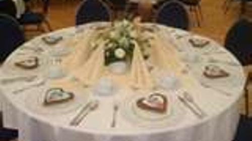Tischdecke rund 180cm Durchmesser weiß