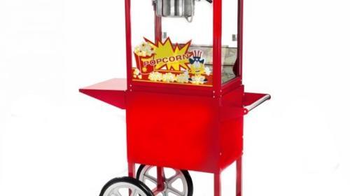 Popcornmaschine mit Wagen B:94cm T:37cm H:157cm