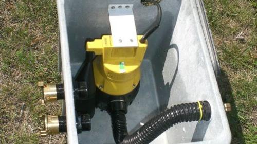 Kleinhebanlage - Pumpe - Abwasserpumpe