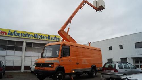 Arbeitsbühne auf DB Kastenwagen