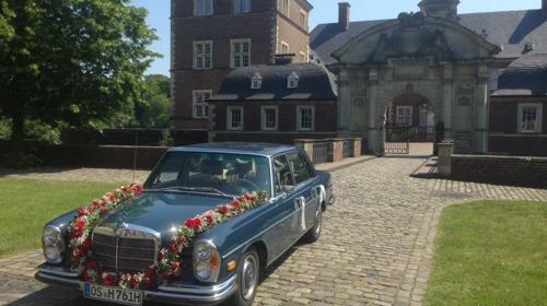 Hochzeitsauto, Mercedes 280 SEL Alte S-Klasse