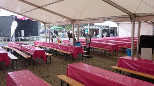 Firmenfeier, Hochzeit, Geburtstag, Jubiläum - Zelt/ Location mit Ausstattung für Ihr Event 50 - 100 Personen rustikal